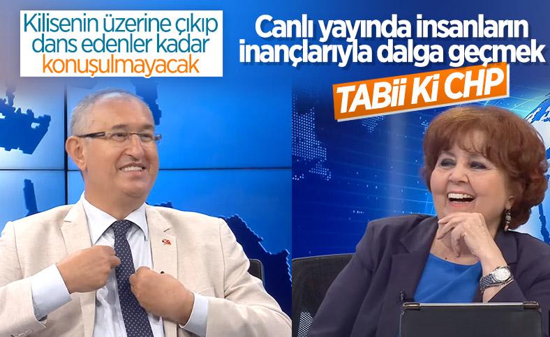 CHP'li Atila Serter Halk TV'de Müslümanların inançlarıyla dalga geçti