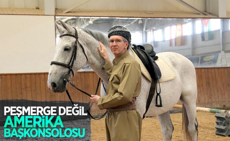 ABD'li Başkonsolos Rob Waller, Erbil'e Peşmerge kıyafetiyle veda etti