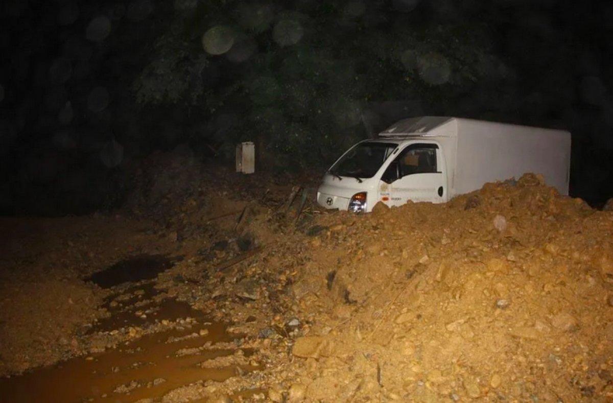 AFAD dan Rize deki şiddetli yağışa ilişkin açıklama #1