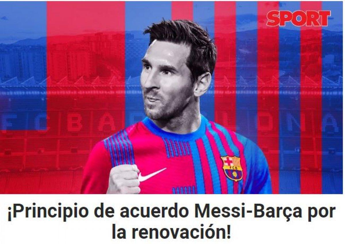 Katalan basını yazdı: Lionel Messi, Barcelona yla anlaştı #2