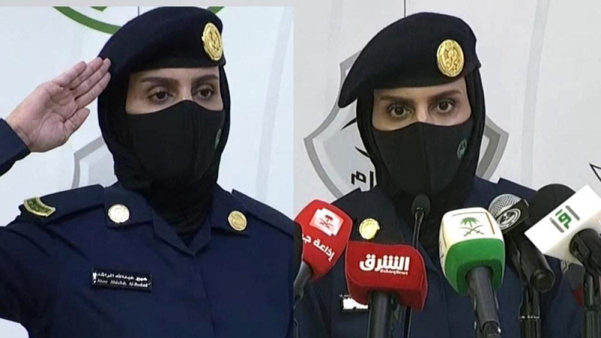 Suudi Arabistan'da ilk kez kadın bir asker basın toplantısı düzenledi #2