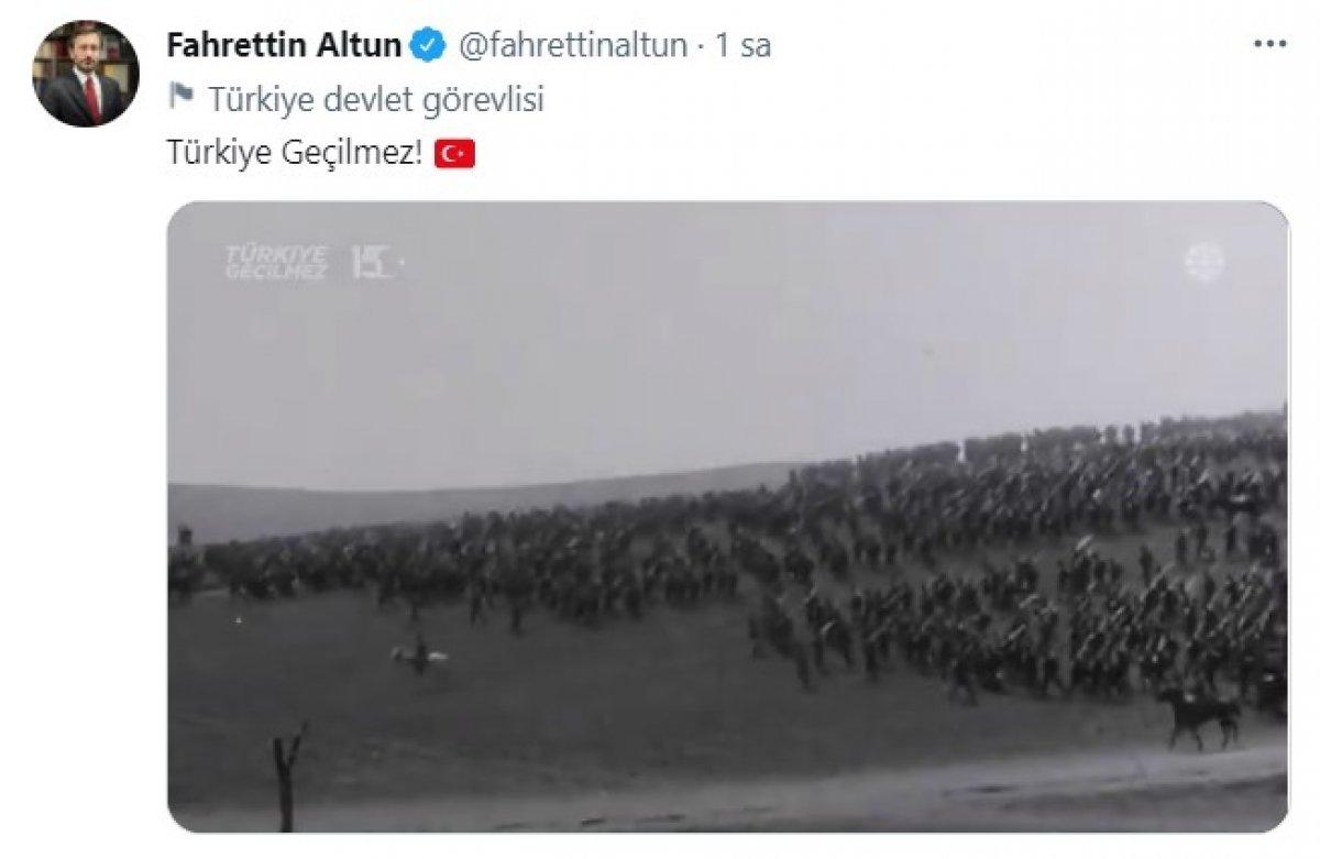 Fahrettin Altun dan 15 Temmuz paylaşımı #1