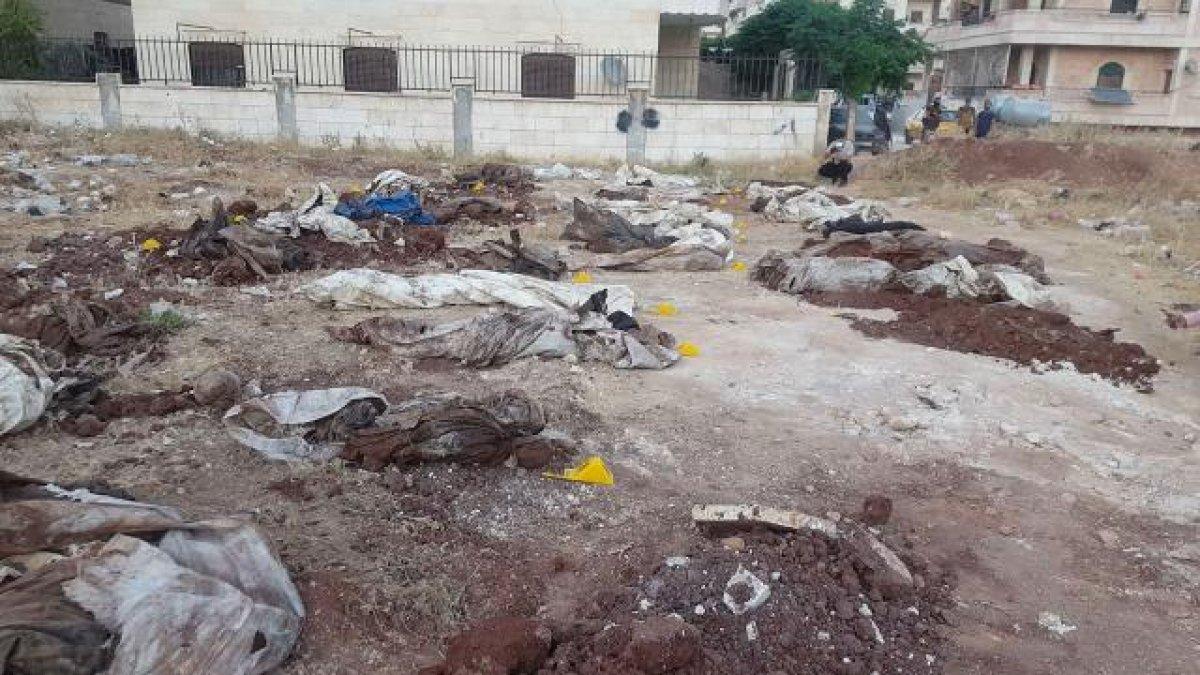 Afrin de PKK katliamı: Toplu mezar bulundu #1