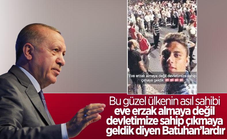 Cumhurbaşkanı Erdoğan, 15 Temmuz şehitlerini andı