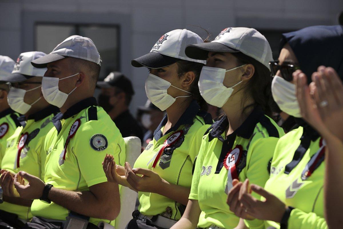 Darbecilerin vurduğu Ankara İl Emniyet Müdürlüğü nde tören #6