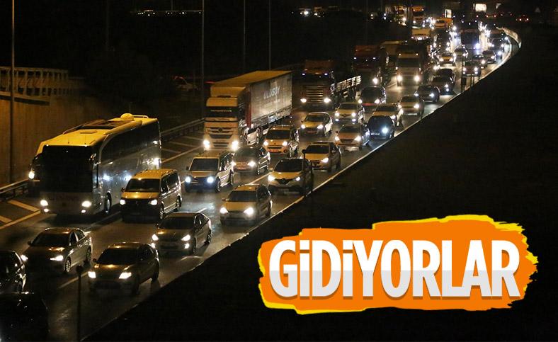İstanbullular bayram tatili için yola çıktı