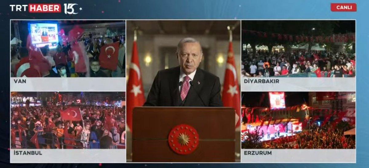 Cumhurbaşkanı Erdoğan ın 15  Temmuz Millete Sesleniş konuşması #2