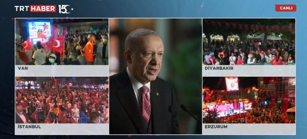 Cumhurbaşkanı Erdoğan ın 15  Temmuz Millete Sesleniş konuşması #1