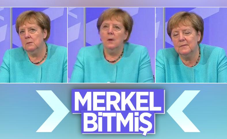 Angela Merkel, gözlerini açamadı