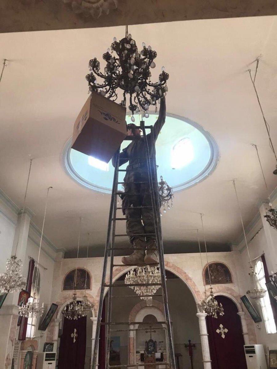 TSK, Rasulayn daki Martuma Süryani Ortodoks Kilisesi ni onardı #3