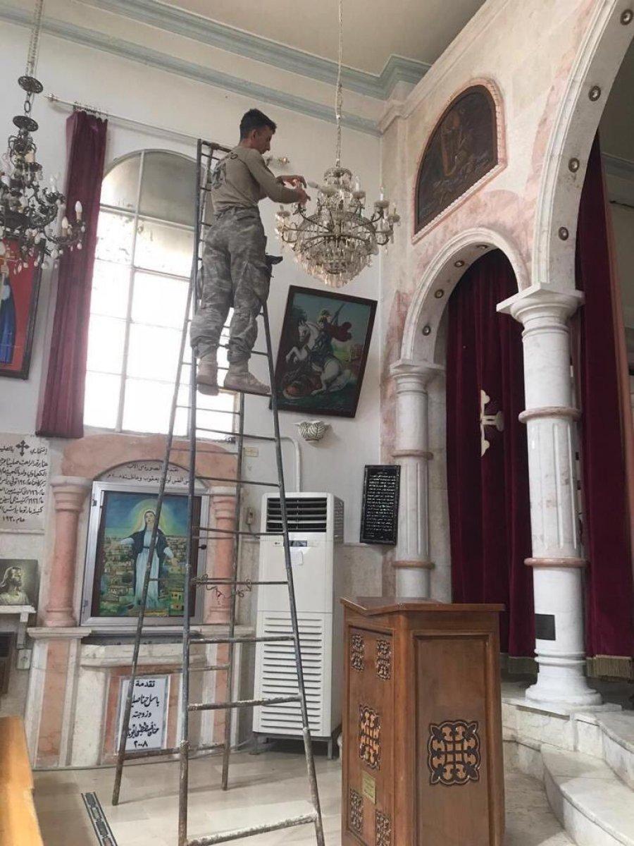 TSK, Rasulayn daki Martuma Süryani Ortodoks Kilisesi ni onardı #2