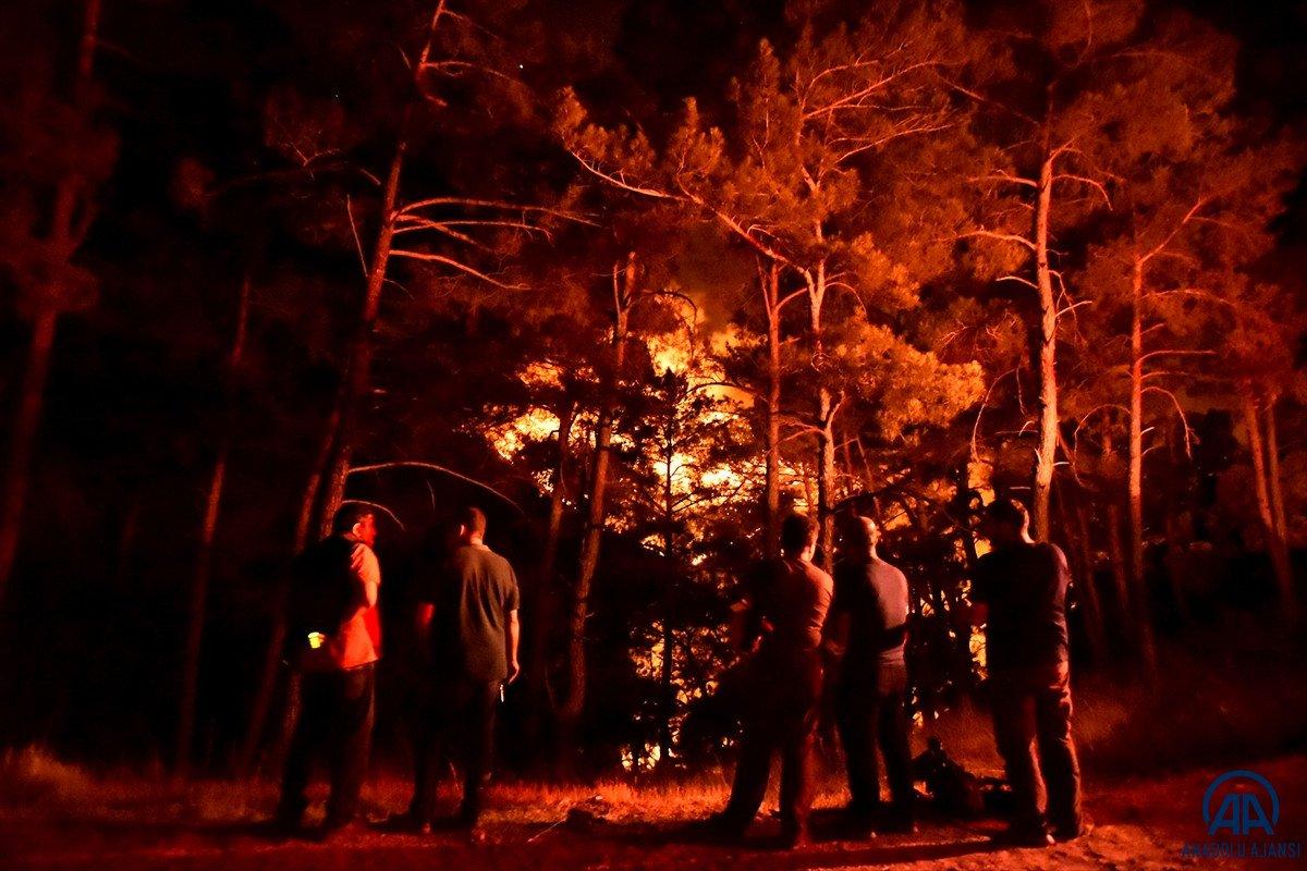 Mersin ve Hatay da orman yangını #8