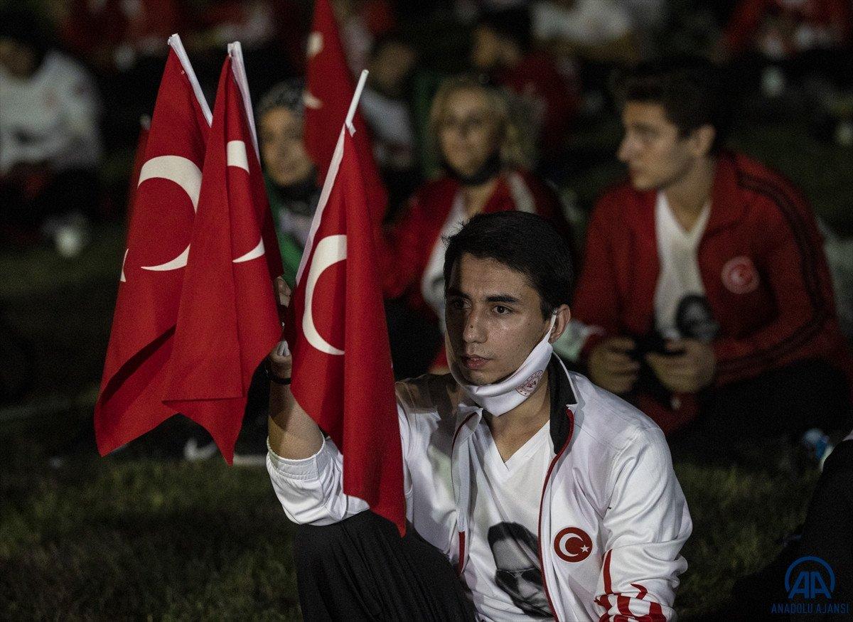 TBMM de milli sporcuların demokrasi nöbeti  #5