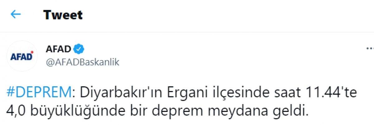 Diyarbakır da çevre illerden hissedilen deprem #1