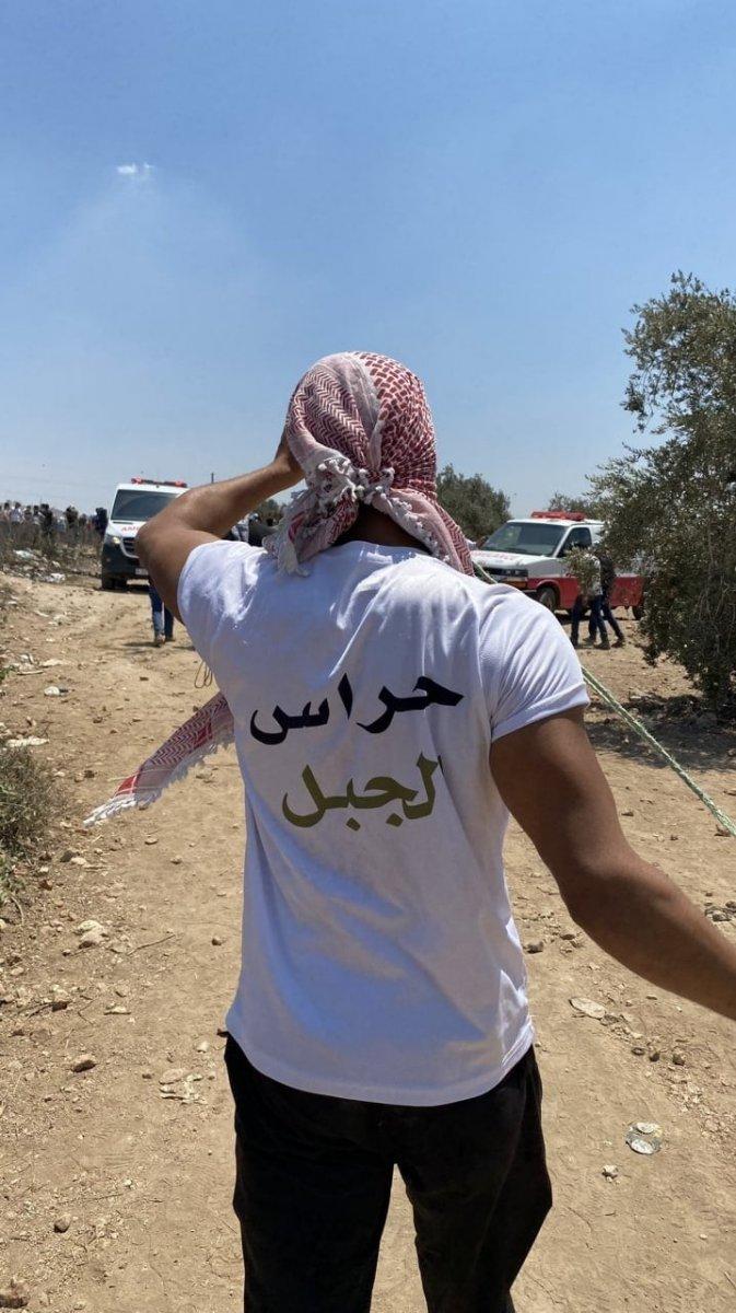 İsrail güçlerinden Nablus ta Filistinli göstericilere müdahale #4