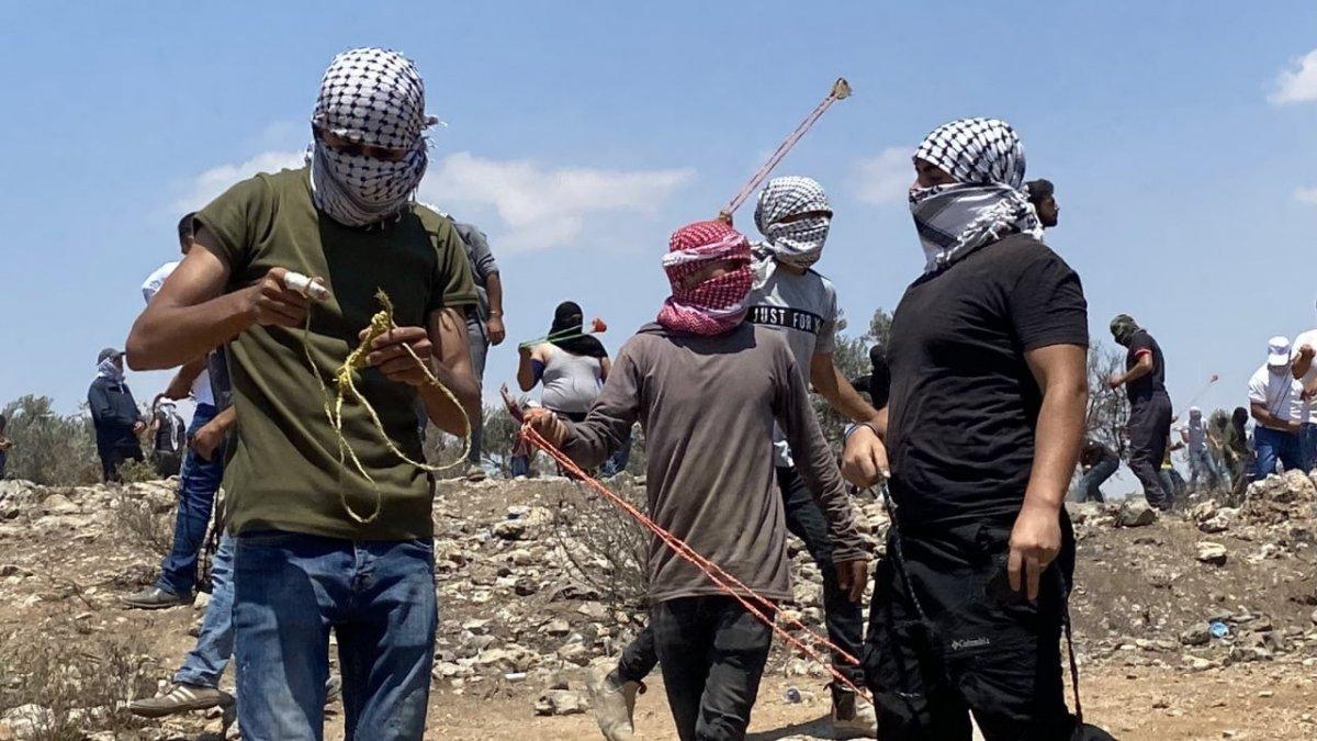 İsrail güçlerinden Nablus ta Filistinli göstericilere müdahale #3
