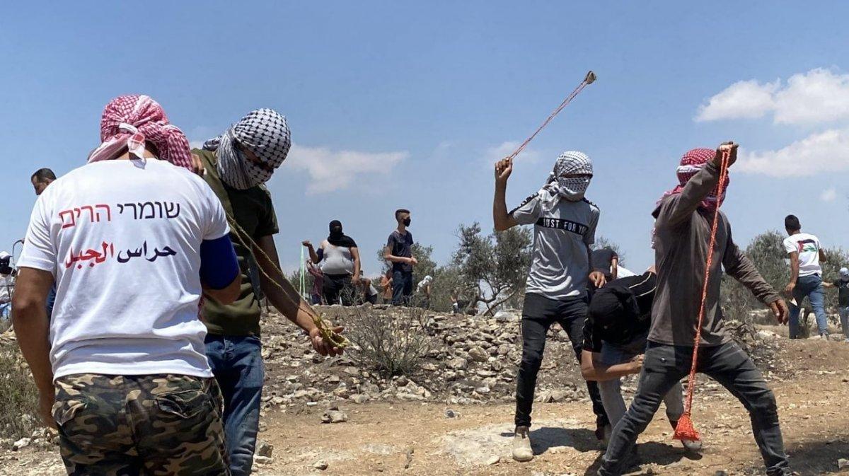 İsrail güçlerinden Nablus ta Filistinli göstericilere müdahale #1