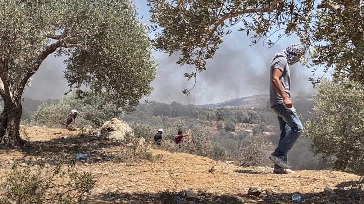 İsrail güçlerinden Nablus ta Filistinli göstericilere müdahale #2