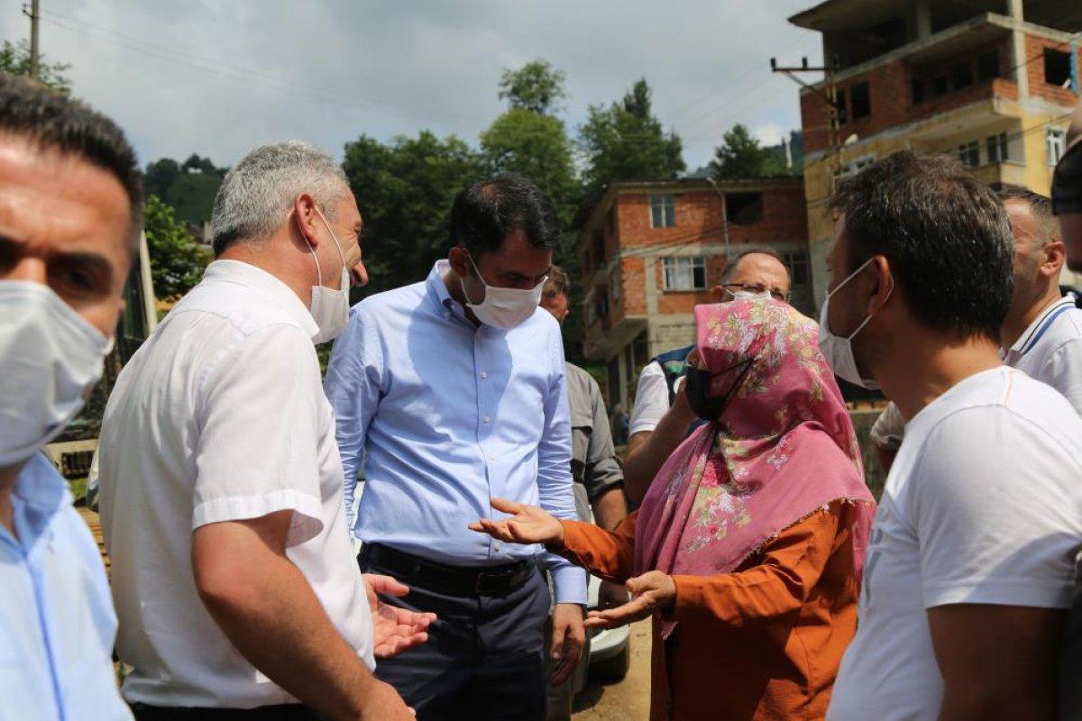 Murat Kurum: Rize de, 24 ağır hasarlı bina tespit ettik #5