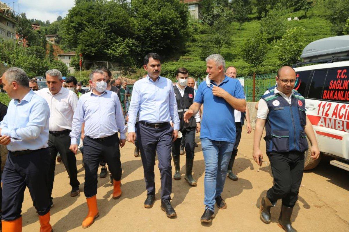 Murat Kurum: Rize de, 24 ağır hasarlı bina tespit ettik #6