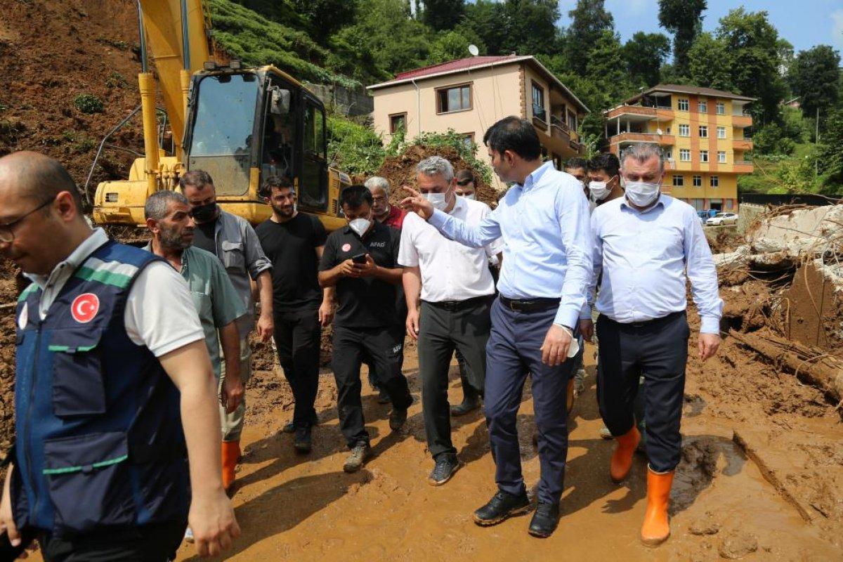 Murat Kurum: Rize de, 24 ağır hasarlı bina tespit ettik #2
