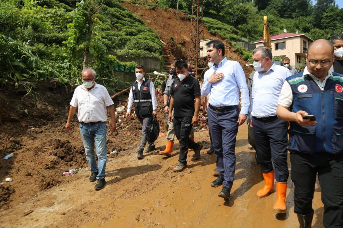Murat Kurum: Rize de, 24 ağır hasarlı bina tespit ettik #3