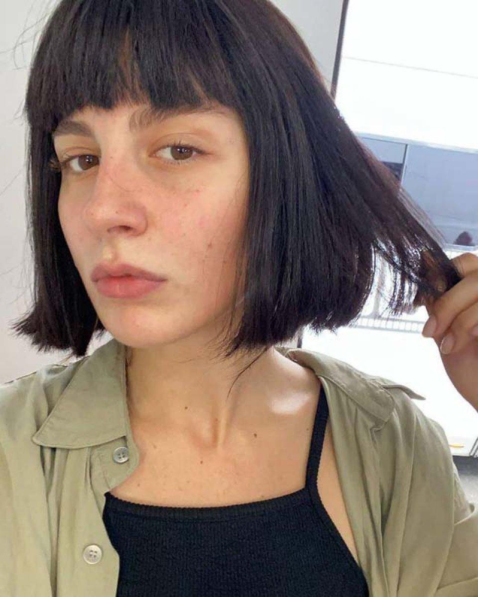 Naz Çağla Irmak yeni filmi için saçlarını kazıttı  #3
