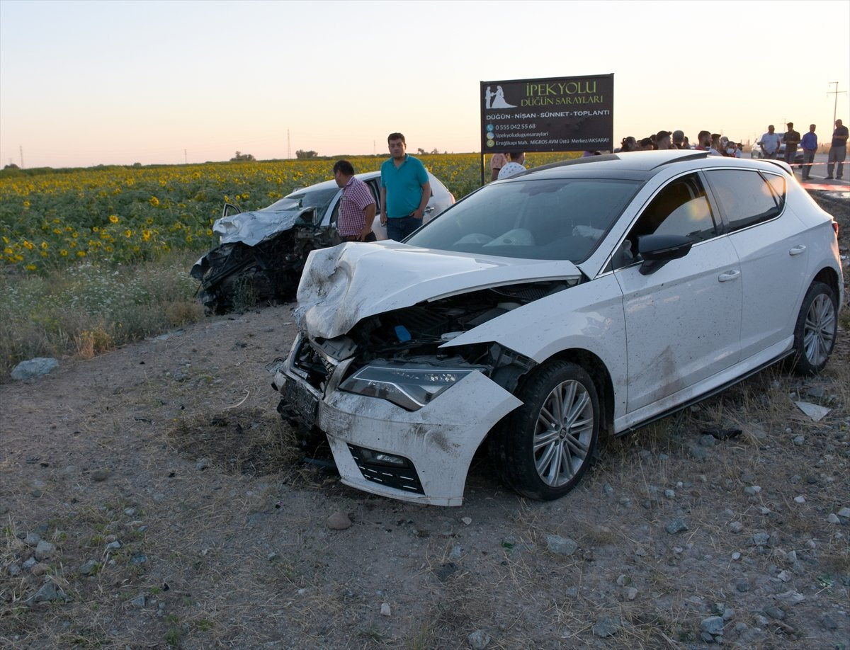 Aksaray da gurbetçinin aracı konvoydaki araçlarla çarpıştı: 2 ölü 6 yaralı #5