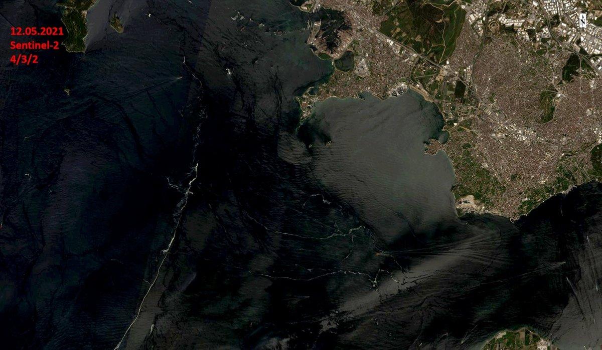 Marmara Denizi nin uzaydan çekilen görüntüleri #2