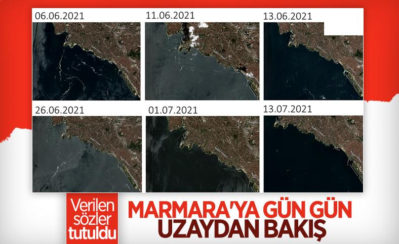Marmara Denizi'nin uzaydan çekilen görüntüleri