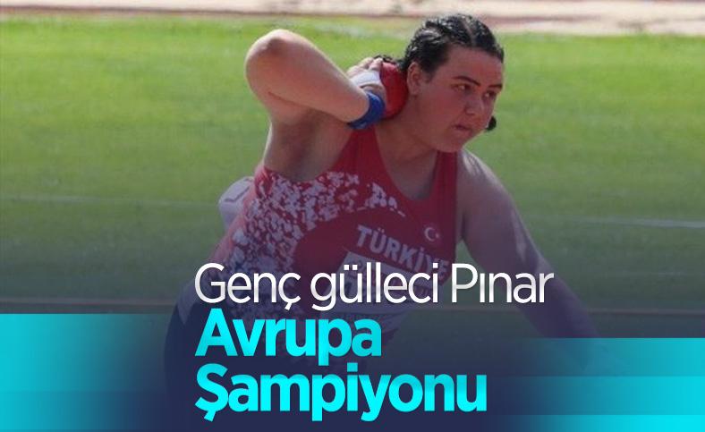 Milli atlet Pınar Akyol, gülle atmada Avrupa Şampiyonu