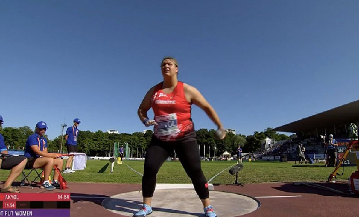 Milli atlet Pınar Akyol, gülle atmada Avrupa Şampiyonu #1