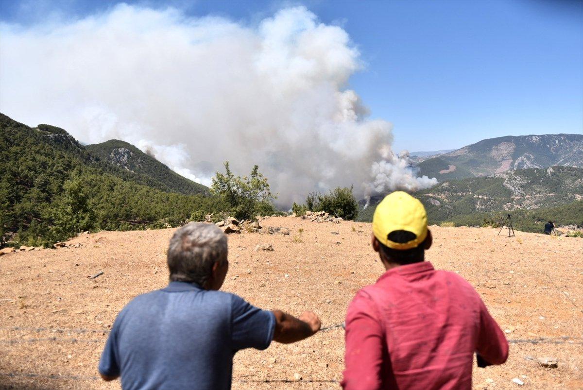 Mersin ve Hatay daki orman yangınları sürüyor #5