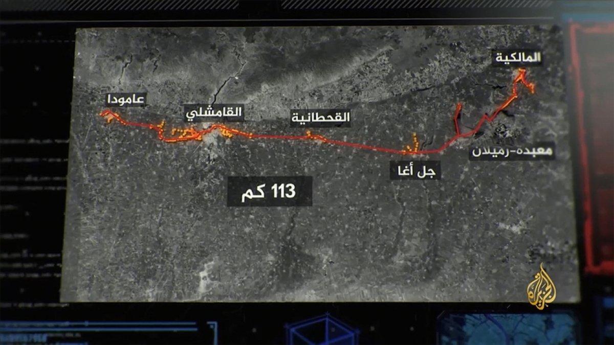 YPG nin Haseke de Türkiye sınırı hattında 113 kilometrelik tünelleri bulundu #4