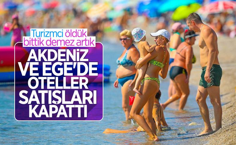 Antalya'da oteller, bayram öncesinde doldu