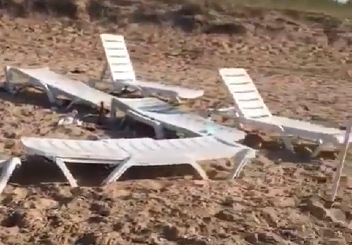 Bozcaada daki plaj, parti sonrasında çöplüğe döndü #2