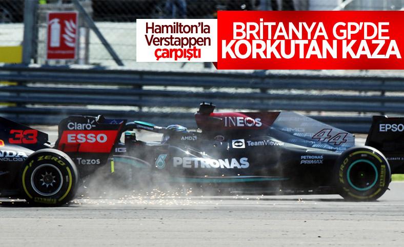 Verstappen ve Hamilton kaza yaptı
