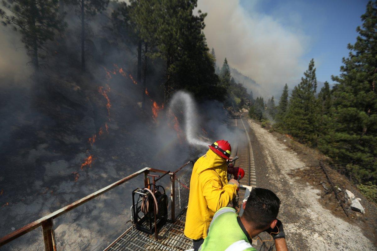 ABD nin Kaliforniya eyaletinde orman yangını #2