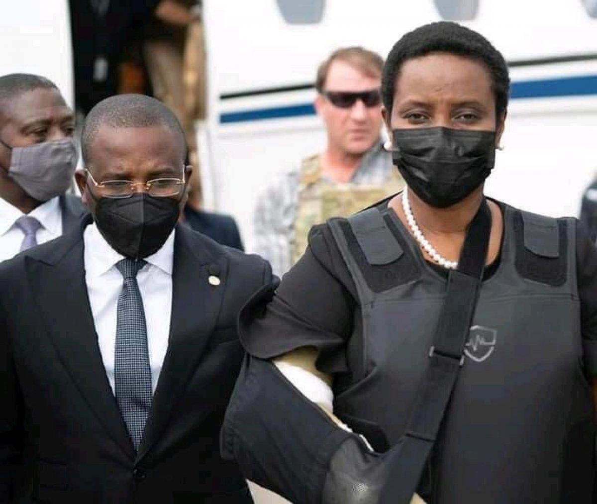 Martine Moise, suikast girişiminin ardından Haiti ye döndü #1