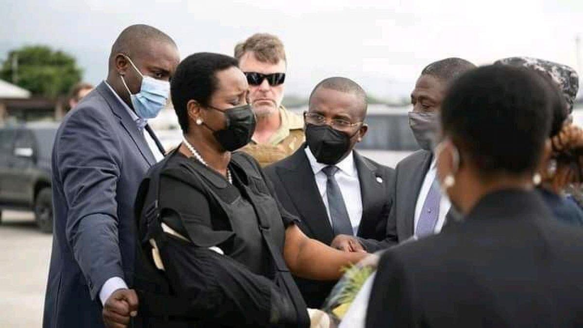 Martine Moise, suikast girişiminin ardından Haiti ye döndü #2