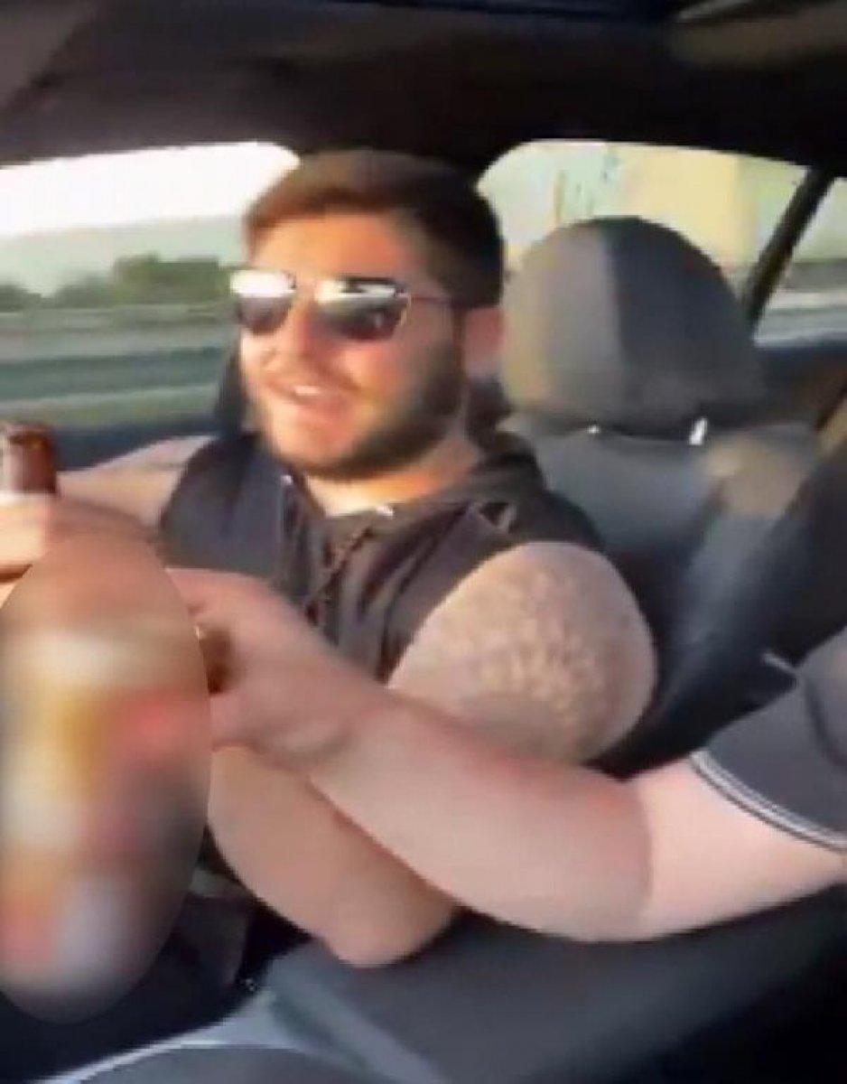 Burakcan Övüç, araba kullanırken alkol aldığı anları paylaştı  #2
