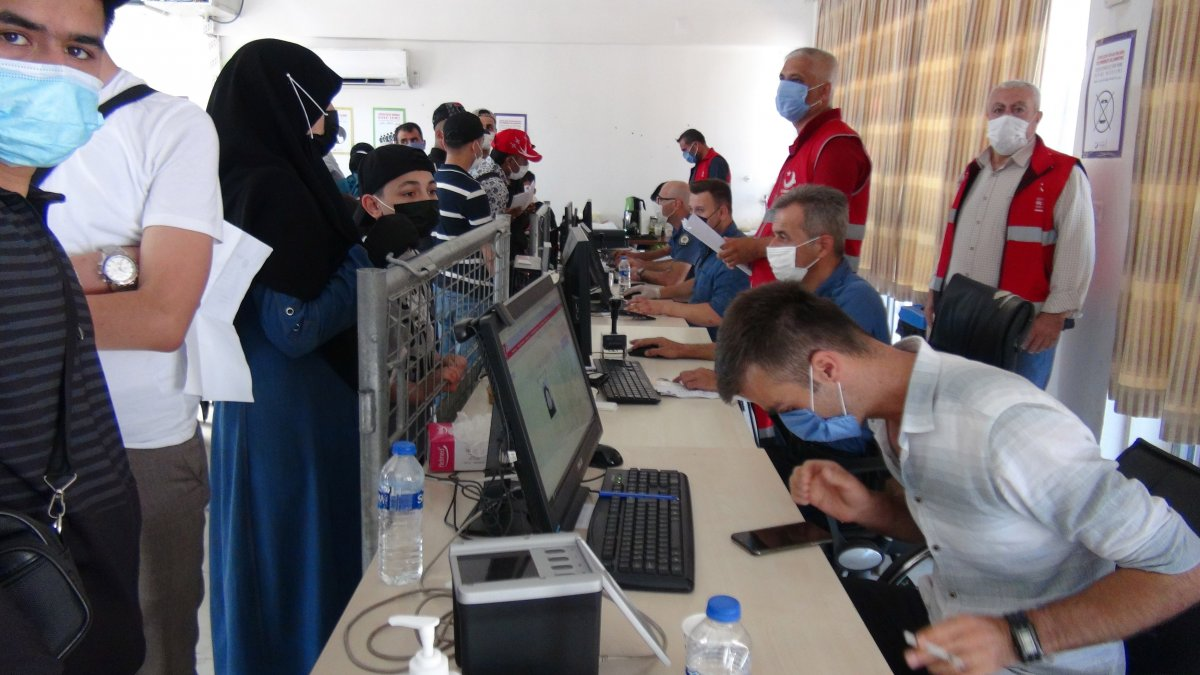 21 bin 500 Suriyeli bayram için ülkesine gitti  #5