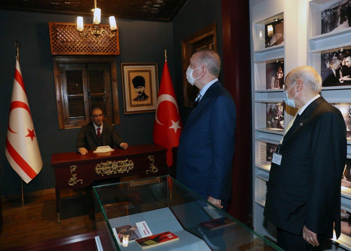 Erdoğan ve Bahçeli, Alparslan Türkeş'in doğduğu evi ziyaret etti #4