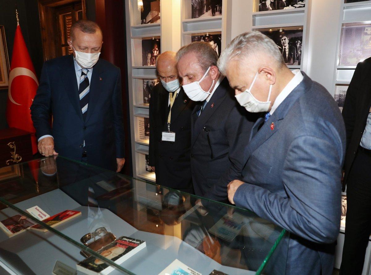 Erdoğan ve Bahçeli, Alparslan Türkeş'in doğduğu evi ziyaret etti #3