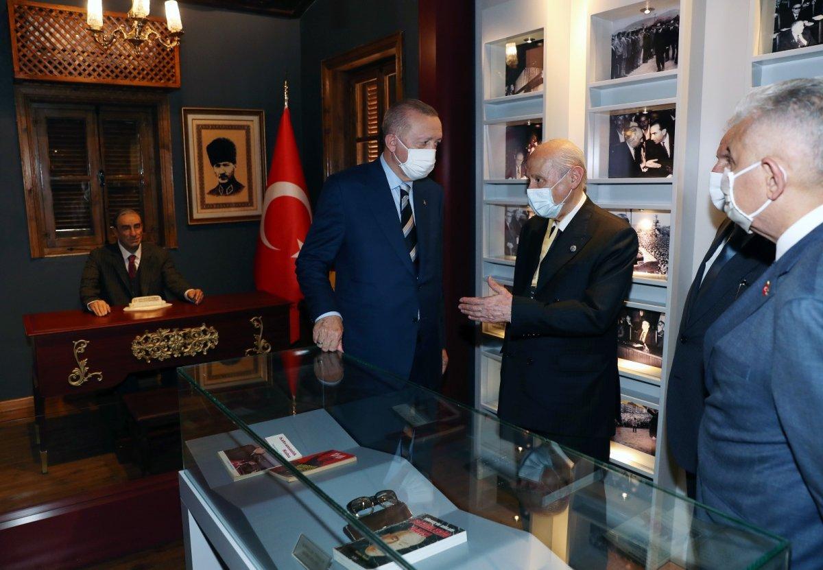 Erdoğan ve Bahçeli, Alparslan Türkeş'in doğduğu evi ziyaret etti #2