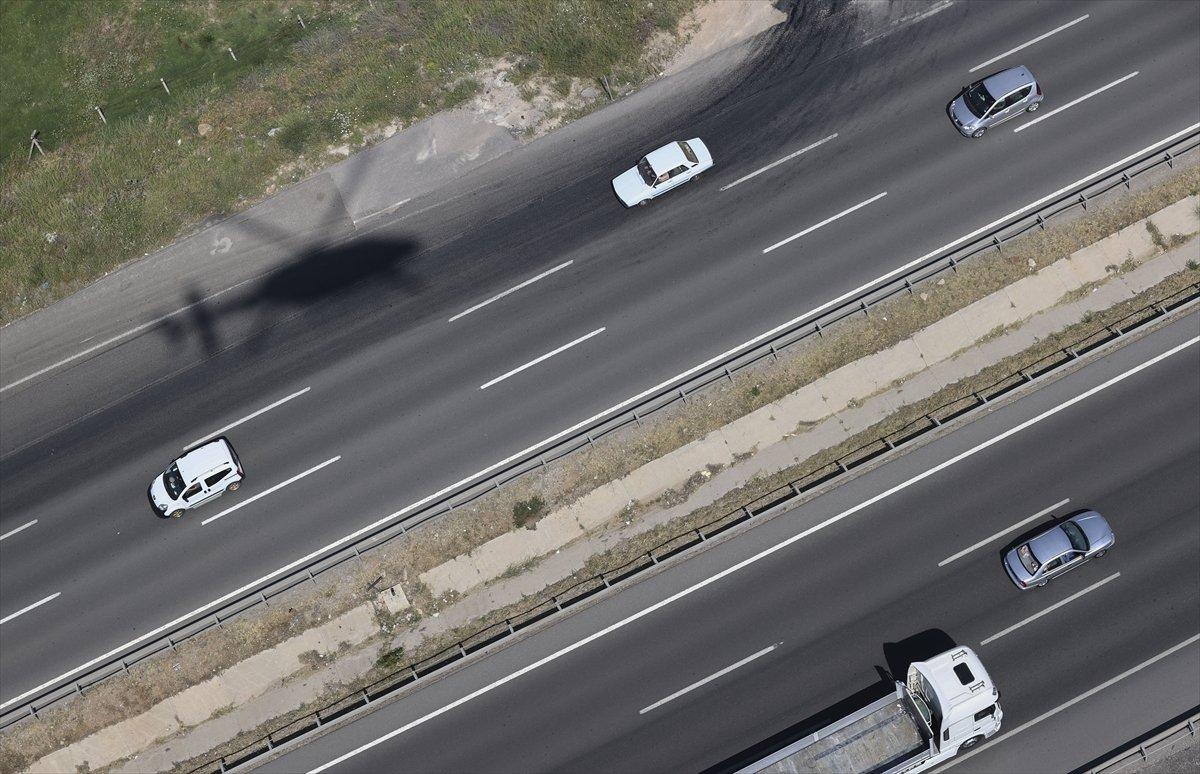 Ankara da helikopterle trafik denetimi #3