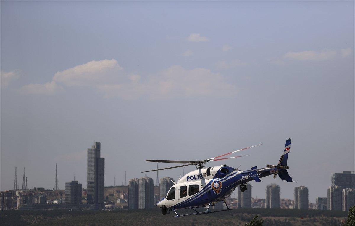 Ankara da helikopterle trafik denetimi #8