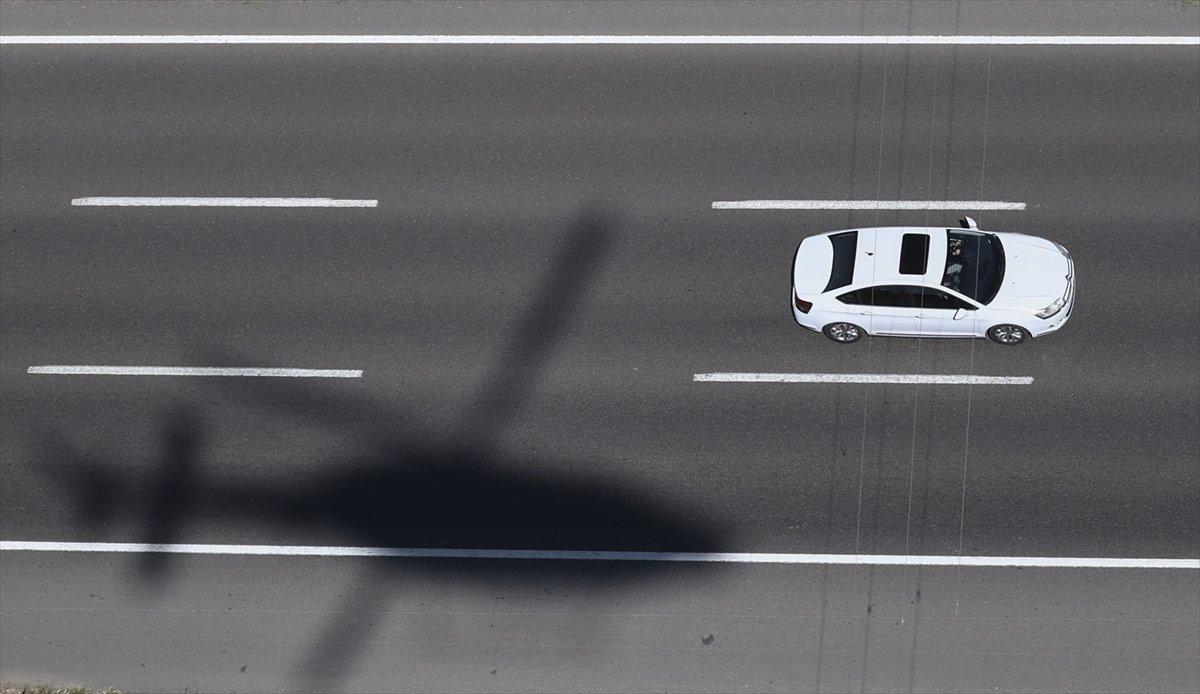 Ankara da helikopterle trafik denetimi #2