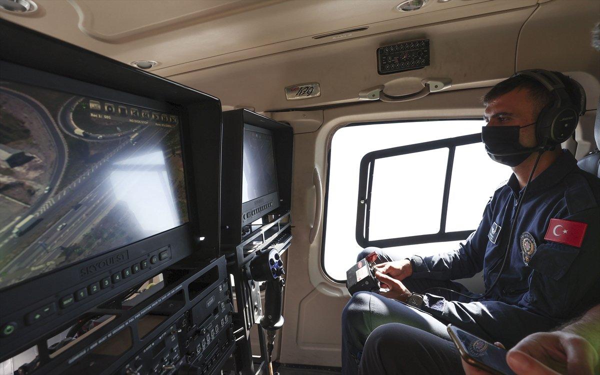 Ankara da helikopterle trafik denetimi #5