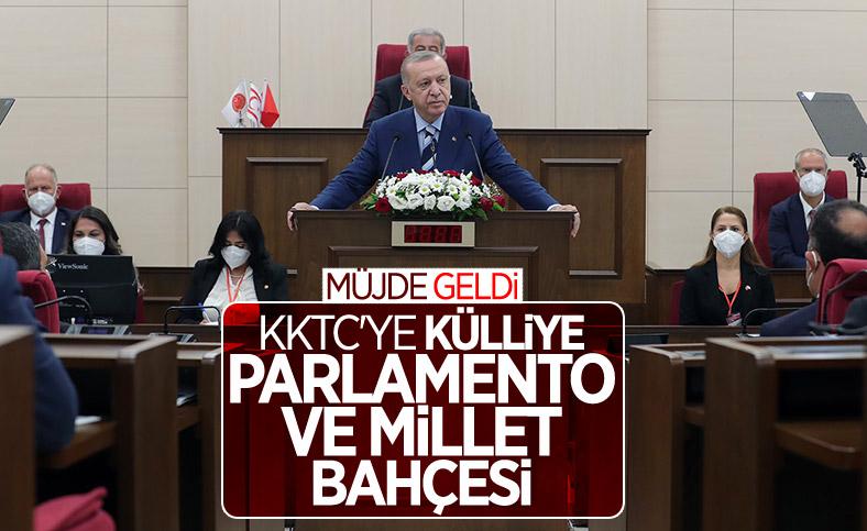 Cumhurbaşkanı Erdoğan, KKTC'de müjdeyi verdi
